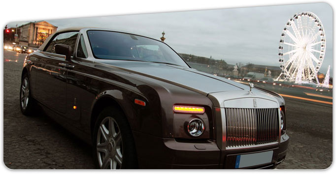location auto de luxe rolls royce drophead